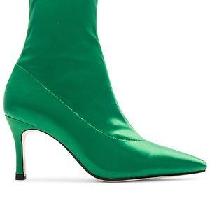 RAYE Enzo Sock Bootie in Green NWOT